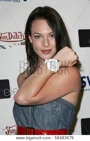 HOLLYWOOD - AUGUST 24: Erin Cummings at the Von Dutch Watches Collection Fashion Show and Launch Party August 24, 2006 Element, Hollywood, CA.