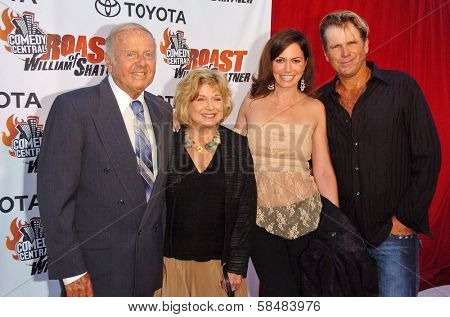 STUDIO CITY, CA - AUGUST 13: Dick Van Patten and family at