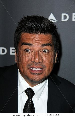 George Lopez at Delta Airline's Celebration of LA's Music Industry, Getty House, Los Angeles, CA 02-07-13