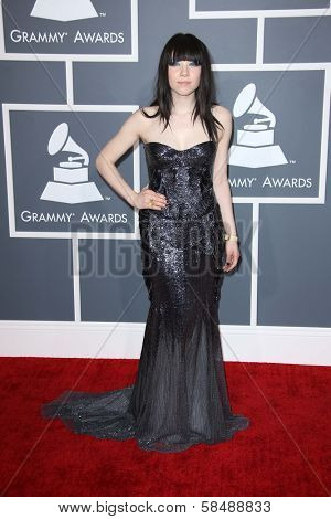 Carly Rae Jepsen at the 55th Annual GRAMMY Awards, Staples Center, Los Angeles, CA 02-10-13