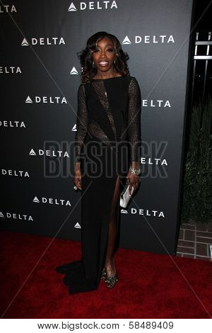 Estelle at Delta Airline's Celebration of LA's Music Industry, Getty House, Los Angeles, CA 02-07-13