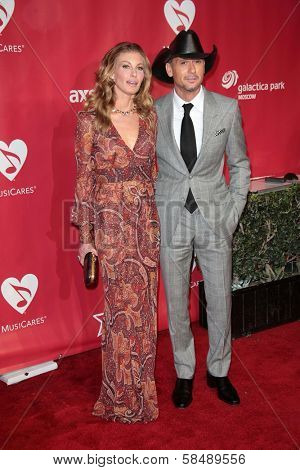 Faith Hill, Tim McGraw at MusiCares Person Of The Year Honoring Bruce Springsteen, Los Angeles Convention Center, Los Angeles, CA 02-08-13
