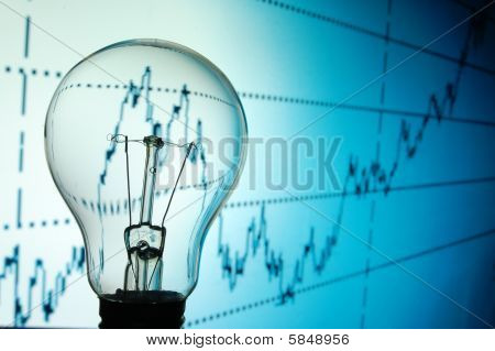 Bulb With Business Background