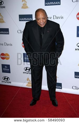 Quincy Jones at the 2013 Clive Davis And Recording Academy Pre-Grammy Gala, Beverly Hilton Hotel, Beverly Hills, CA 02-09-13