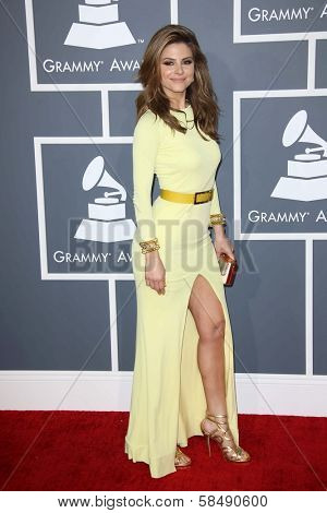 Maria Menounos at the 55th Annual GRAMMY Awards, Staples Center, Los Angeles, CA 02-10-13