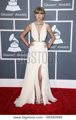 Taylor Swift at the 55th Annual GRAMMY Awards, Staples Center, Los Angeles, CA 02-10-13