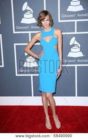 Karlie Kloss at the 55th Annual GRAMMY Awards, Staples Center, Los Angeles, CA 02-10-13