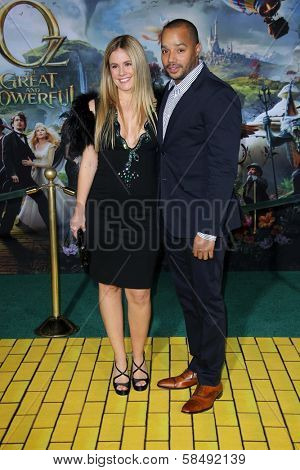 Donald Faison and wife at the
