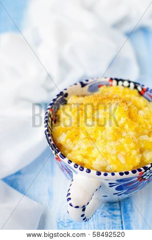 Millet And Rice Kasha (porridge) With Pumpkin