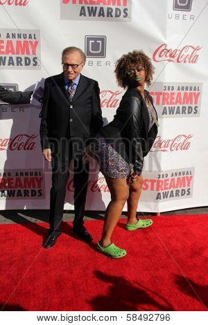 Larry King, GloZell Green at the 3rd Annual Streamy Awards, Hollywood Palladium, Hollywood, CA 02-17-13