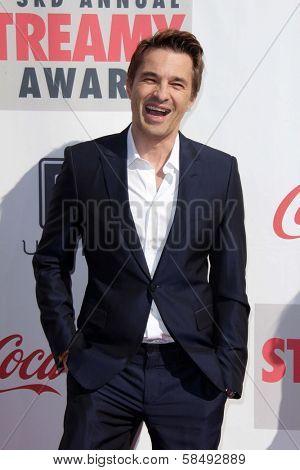 Olivier Martinez at the 3rd Annual Streamy Awards, Hollywood Palladium, Hollywood, CA 02-17-13