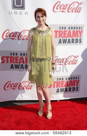 Felicia Day at the 3rd Annual Streamy Awards, Hollywood Palladium, Hollywood, CA 02-17-13