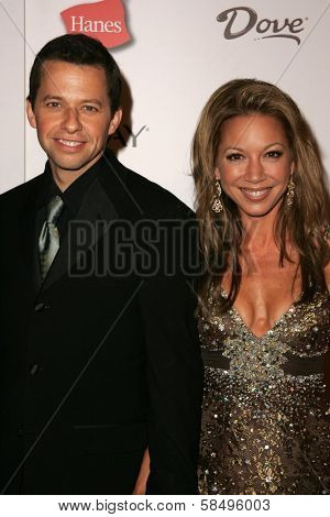 HOLLYWOOD - AUGUST 27: Jon Cryer and Lisa Joyner at the TV Guide Emmy After Party at Social August 27, 2006 in Hollywood, CA.