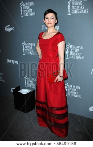 Ginnifer Goodwin at the 15th Annual Costume Designers Guild Awards, Beverly Hilton, Beverly Hills, CA 02-19-13