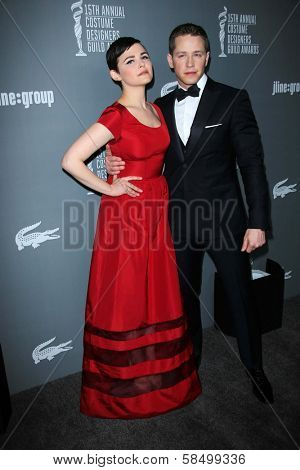 Ginnifer Goodwin and Josh Dallas at the 15th Annual Costume Designers Guild Awards, Beverly Hilton, Beverly Hills, CA 02-19-13