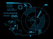 foto of hologram  - Futuristic graphic virtual user interface HUD blue - JPG