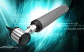 foto of otoscope  - Digital illustration of otoscope in white background - JPG