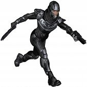 foto of armor suit  - Futuristic science fiction soldier in protective armoured space suit - JPG