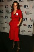 Alyssa Milano at a Rally Supporting Proposition 87. United Teachers Los Angeles, Los Angeles, Califo