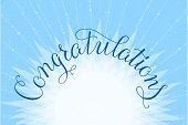 picture of congratulations  - Congratulations lettering illustration hand written design on a lite - JPG