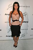 HOLLYWOOD - DECEMBER 11: Kim Kardashian at the Nefarious Fine Jewelry Spring 2007 Collection and Hol