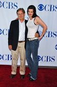 PASADENA - JULY 15: David McCallum and Pauley Perrette at CBS's TCA Press Tour at The Rose Bowl on J