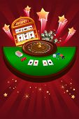 stock photo of poker machine  - A vector illustration of casino gambling design - JPG