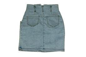 stock photo of jeans skirt  - Skirt jeans isolated on white background - JPG