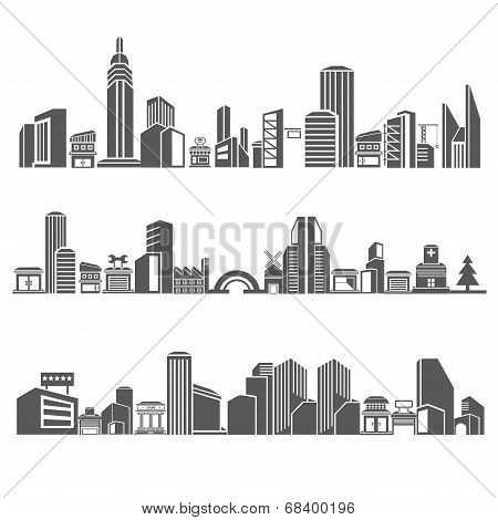 cities silhouette, city skyline