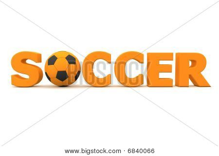 Football Soccer Orange