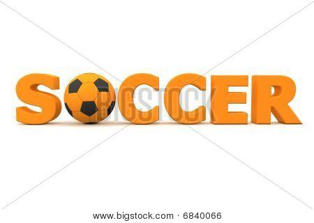 Football Soccer Orange