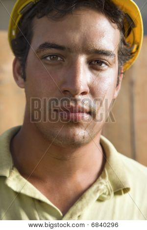Sweaty Construction Worker