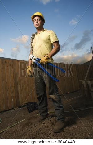 Serious Looking Construction Worker