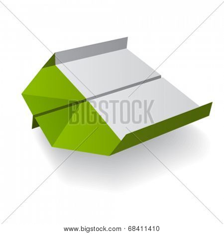 vector origami paper airplane