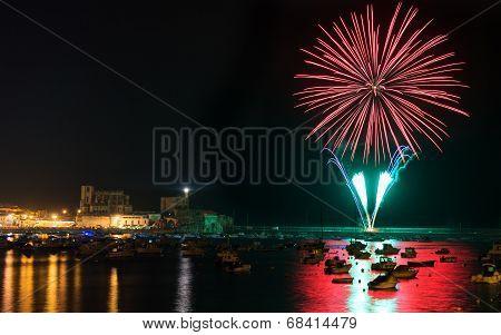 fireworks in Castro Urdiales