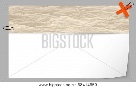 Text Box With Texture Of Paper And Ban Symbol