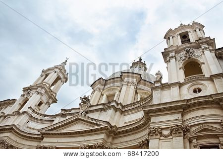 Sant'agnese In Agone, Baroque Church In Rome, Italy