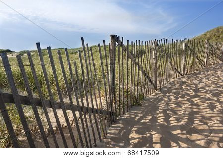 Beach fence on Cape Cod