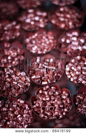 mini copper vases