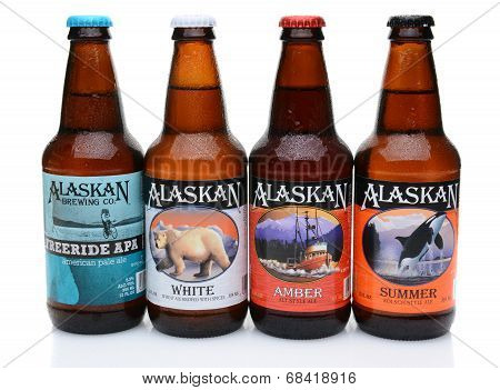 Four Bottles Of Alaskan Brewing Co. Beers