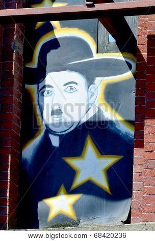 Mural Charlie Chaplin