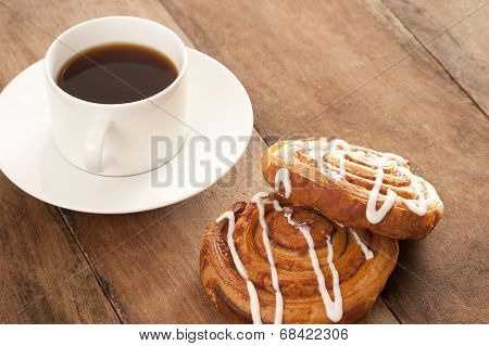 Coffee With Danish Pastries