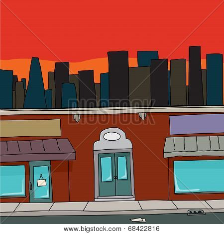 Storefront With Skyline