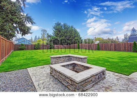 Backyard Deck With Firepit
