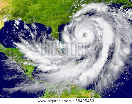 Hurricane Between Florida And Cuba