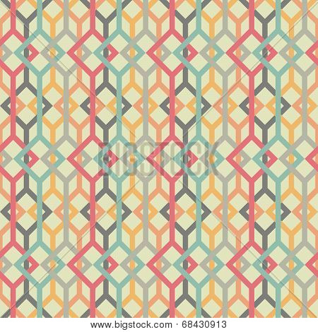 Abstract background with lines and squares. Seamless vector pattern.