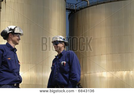 engineers and fuel-storage tanks