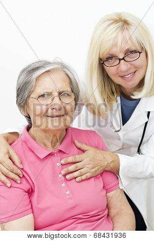 Elderly Woman  With Her Female Doctor
