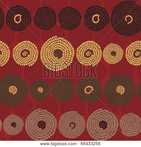 Traditional African Ornament with swirls. Seamless vector pattern.
