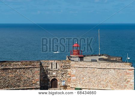 Lighthouse On Forte Do Morro, Nazare (portugal)